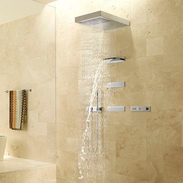 rociador y cascada de ducha empotrado