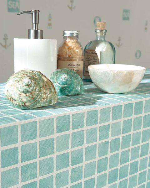 baño con gresite vinílico