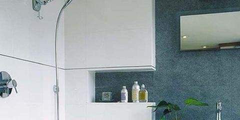 Room, Product, Plumbing fixture, Interior design, Property, Floor, Wall, Tile, Flooring, Glass,
