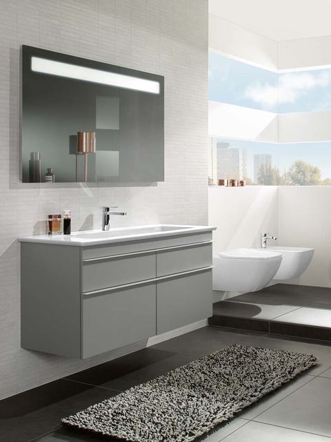 Blue, Architecture, Plumbing fixture, Room, Interior design, Property, Glass, Tap, Floor, Tile,