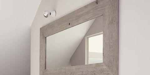 Property, Room, Wall, Interior design, Mirror, Rectangle, Interior design, Grey, Composite material, Material property,
