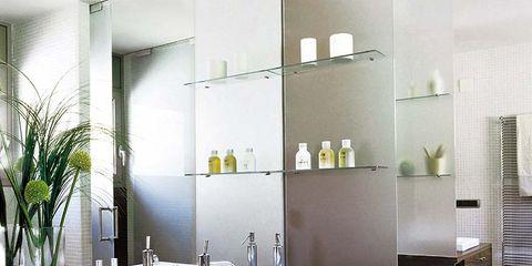 Room, Interior design, Property, Floor, Glass, Wall, Flooring, Interior design, Cabinetry, Plumbing fixture,