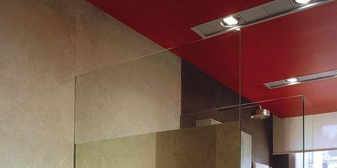 Interior design, Property, Room, Countertop, Ceiling, Wall, Light fixture, Tile, Floor, Glass,