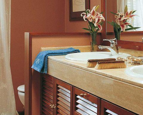 Room, Interior design, Property, Plumbing fixture, Bathroom sink, Tap, Petal, Interior design, Glass, Sink,