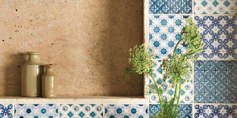 Blue, Interior design, Room, Wall, Flooring, Floor, Porcelain, Interior design, Ceramic, Azure,