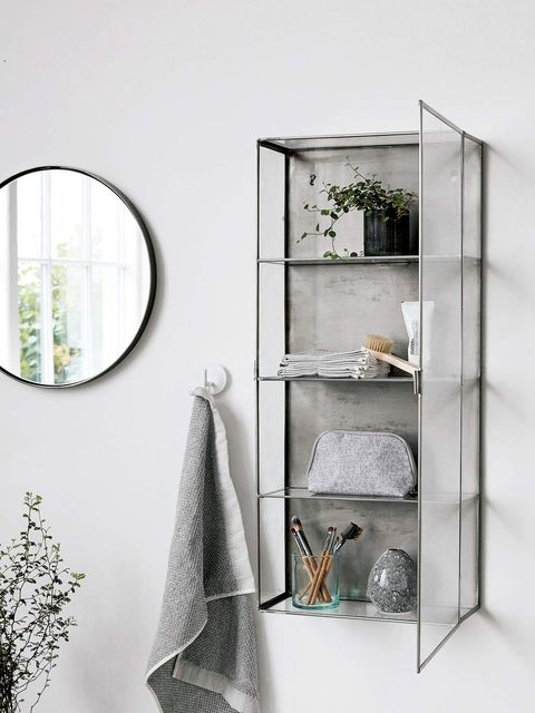 Shelf, Furniture, Display case, Shelving, Wall, Room, Glass, Table, Metal,