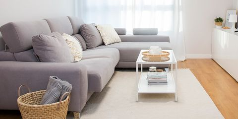 Living room, Furniture, Room, Interior design, Floor, Property, Coffee table, Wood flooring, Couch, Table,