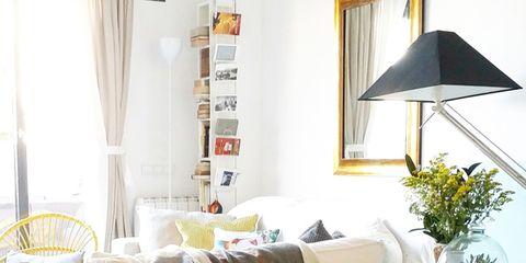 Room, Interior design, Textile, Lamp, Interior design, Home, Lampshade, Home accessories, Linens, Window treatment,
