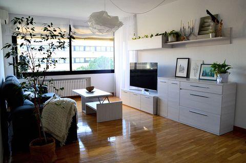 Room, Furniture, Living room, Interior design, Property, Wood flooring, Floor, Building, Hardwood, Laminate flooring,