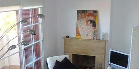 Wood, Room, Interior design, Property, Living room, Floor, Wall, Display device, Flooring, Home,