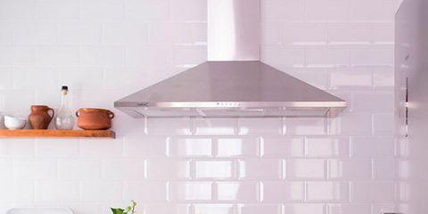 Wood, Room, Floor, Major appliance, Grey, Interior design, Light fixture, Kitchen, Exhaust hood, Cabinetry,