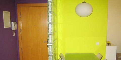 Wood, Yellow, Room, Floor, Wall, Table, Flooring, Interior design, Fixture, Door,