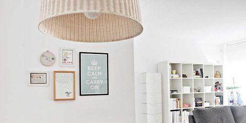 Room, Interior design, Wall, Living room, Furniture, Ceiling fixture, Couch, Light fixture, Floor, Ceiling,