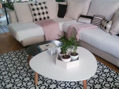 Furniture, Living room, Coffee table, Room, Interior design, Property, Table, Couch, Floor, studio couch,