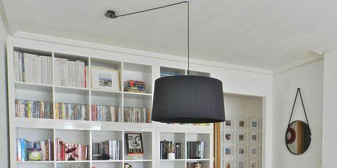 Room, Wood, Interior design, Furniture, Floor, Table, Wall, Flooring, Shelving, Bookcase,