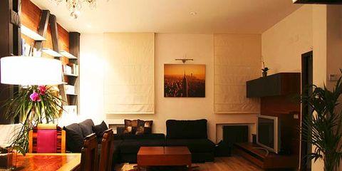 Wood, Lighting, Interior design, Room, Floor, Flooring, Table, Interior design, Furniture, Hardwood,