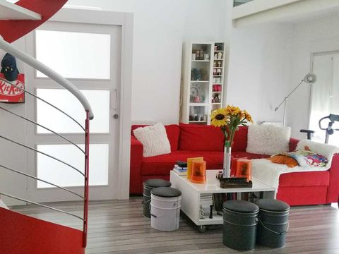 Room, Interior design, Floor, Flooring, Red, Wall, Couch, Living room, Home, Interior design,