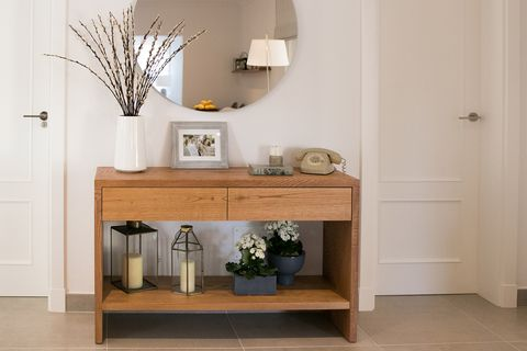Furniture, Shelf, Room, Table, Interior design, Sideboard, Floor, Wall, Shelving, Chest of drawers,