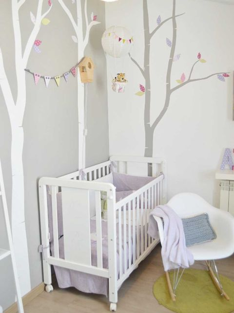 Product, Wood, Branch, Room, Twig, Infant bed, Interior design, Furniture, Wall, Nursery,