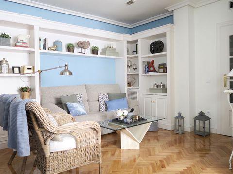 Wood, Room, Floor, Interior design, Flooring, Shelf, Shelving, Wall, Home, Wood flooring,