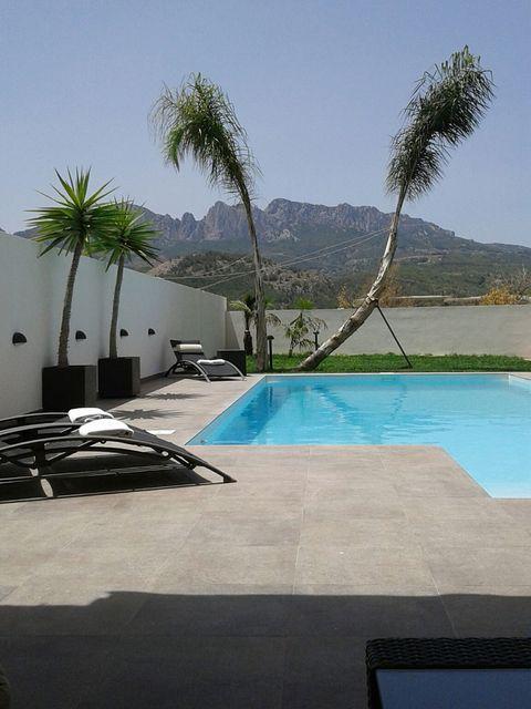 Swimming pool, Property, Water, Resort, Real estate, Aqua, Azure, Arecales, Composite material, Shade,