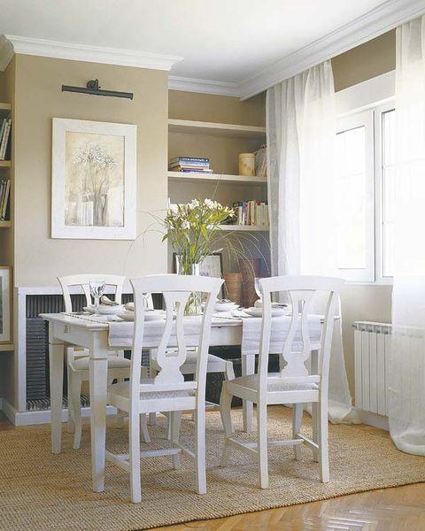 Floor, Wood, Room, Flooring, Interior design, Home, Table, Furniture, Dining room, Chair,
