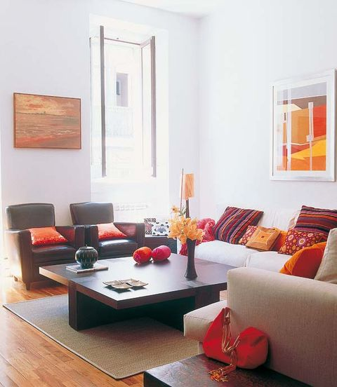 Wood, Room, Interior design, Living room, Floor, Table, Furniture, Wall, Flooring, Couch,