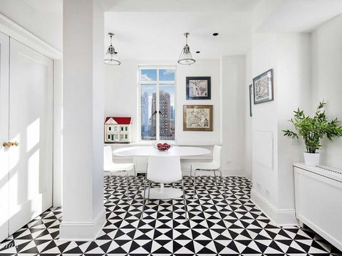 White, Room, Property, Interior design, Floor, Building, Furniture, Black-and-white, Tile, Ceiling,