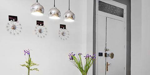 Room, Interior design, Table, Furniture, Interior design, Wall, Light fixture, Floor, Door, Home accessories,