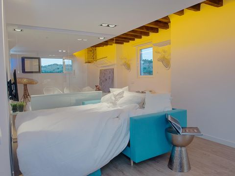 Room, Property, Furniture, Interior design, Turquoise, Building, House, Bed, Bathroom, Ceiling,