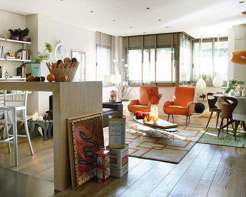 Wood, Floor, Interior design, Flooring, Room, Furniture, Table, Hardwood, Ceiling, Interior design,
