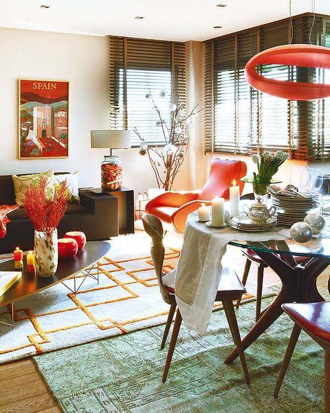 Lighting, Interior design, Room, Furniture, Floor, Table, Interior design, Chair, Houseplant, Flowerpot,