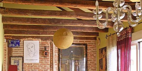 Interior design, Room, Living room, Furniture, Ceiling, Wall, Interior design, Home, Light fixture, Display device,