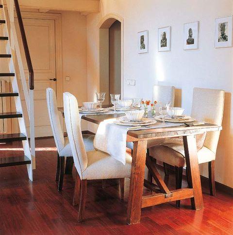 Wood, Room, Ladder, Hardwood, Table, Floor, Flooring, Furniture, Interior design, Chair,