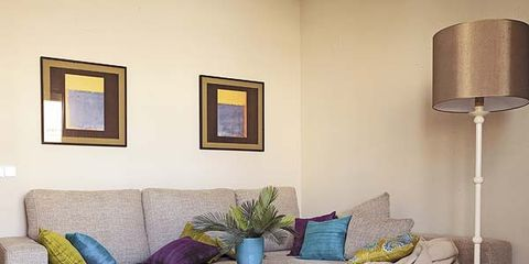 Room, Interior design, Yellow, Wall, Living room, Floor, Furniture, Table, Flooring, Couch,