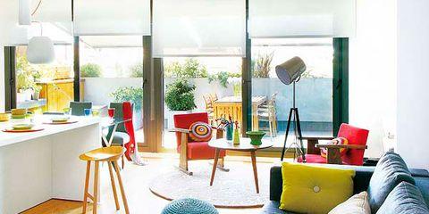 Room, Interior design, Textile, Interior design, Turquoise, Teal, Living room, Aqua, Houseplant, Home,