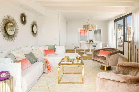 Living room, Room, Property, Interior design, Furniture, Building, House, Real estate, Home, Ceiling,