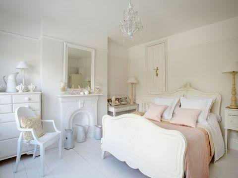 Bedroom, Furniture, Room, White, Bed, Property, Interior design, Bed frame, Bed sheet, Bedding,