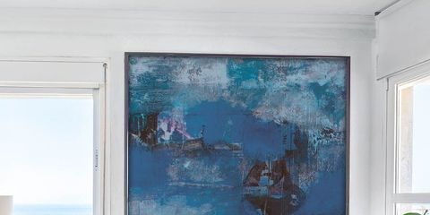 Blue, Interior design, Room, Wall, Interior design, Turquoise, Teal, Paint, Aqua, Throw pillow,