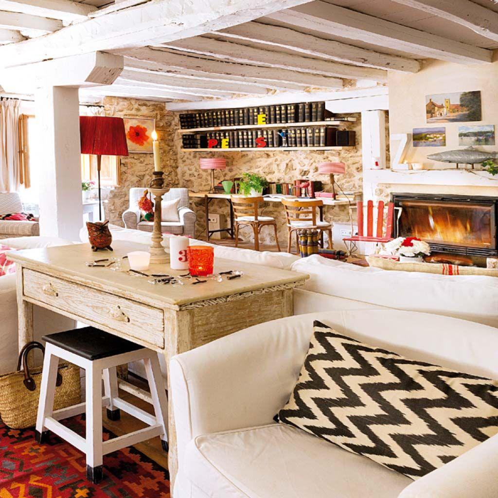 Resultado de imagen para casitas pintadas en piedras pinterest for Casas rusticas de madera y piedra