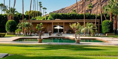 Sport venue, Palm tree, Tree, Sky, Grass, Botany, Arecales, Architecture, Plant, Leisure,