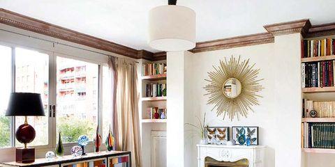 Room, Interior design, Shelving, Home, Furniture, Shelf, Interior design, Wall, Living room, Ceiling,