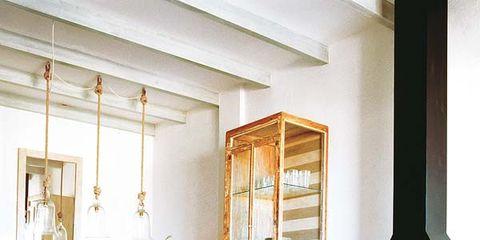 Room, Interior design, Ceiling, Table, Floor, Interior design, Hardwood, Molding, Paint, Wood stain,