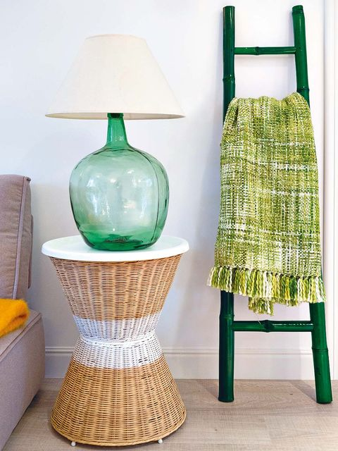 Blue, Green, Teal, Aqua, Turquoise, Home accessories, Lighting accessory, Natural material, Lampshade, Artifact,