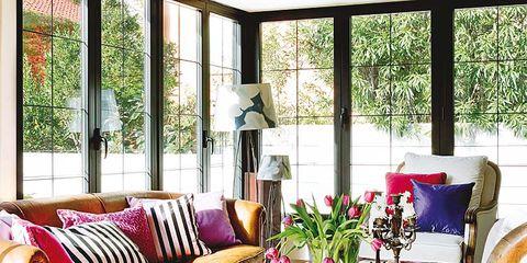 Interior design, Room, Furniture, Table, Living room, Couch, Coffee table, Interior design, Home, Purple,