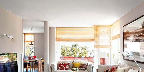 Room, Interior design, Floor, Home, Flooring, Living room, Wall, Furniture, Couch, Interior design,