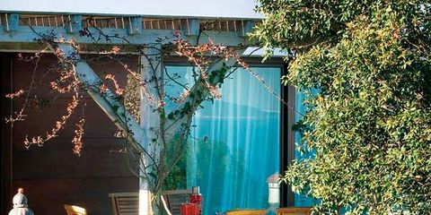 Furniture, Door, Chair, Outdoor furniture, Teal, Backyard, Garden, Yard, Shade, Parachute,