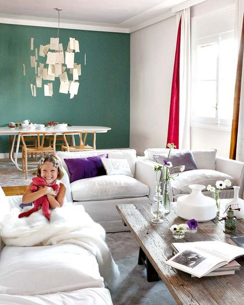 Room, Green, Interior design, Flag, Furniture, Table, White, Home, Wall, Interior design,