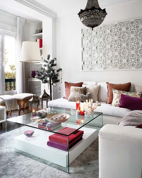 Interior design, Room, Living room, Home, Furniture, Wall, Table, Pink, Interior design, Floor,