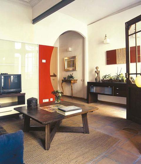 Lighting, Room, Interior design, Floor, Flooring, Table, Furniture, Interior design, Ceiling, Coffee table,